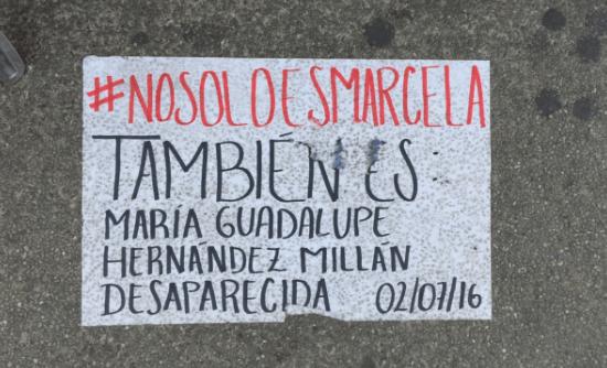 Anna Favella se suma a campaña contra la desaparición de mujeres