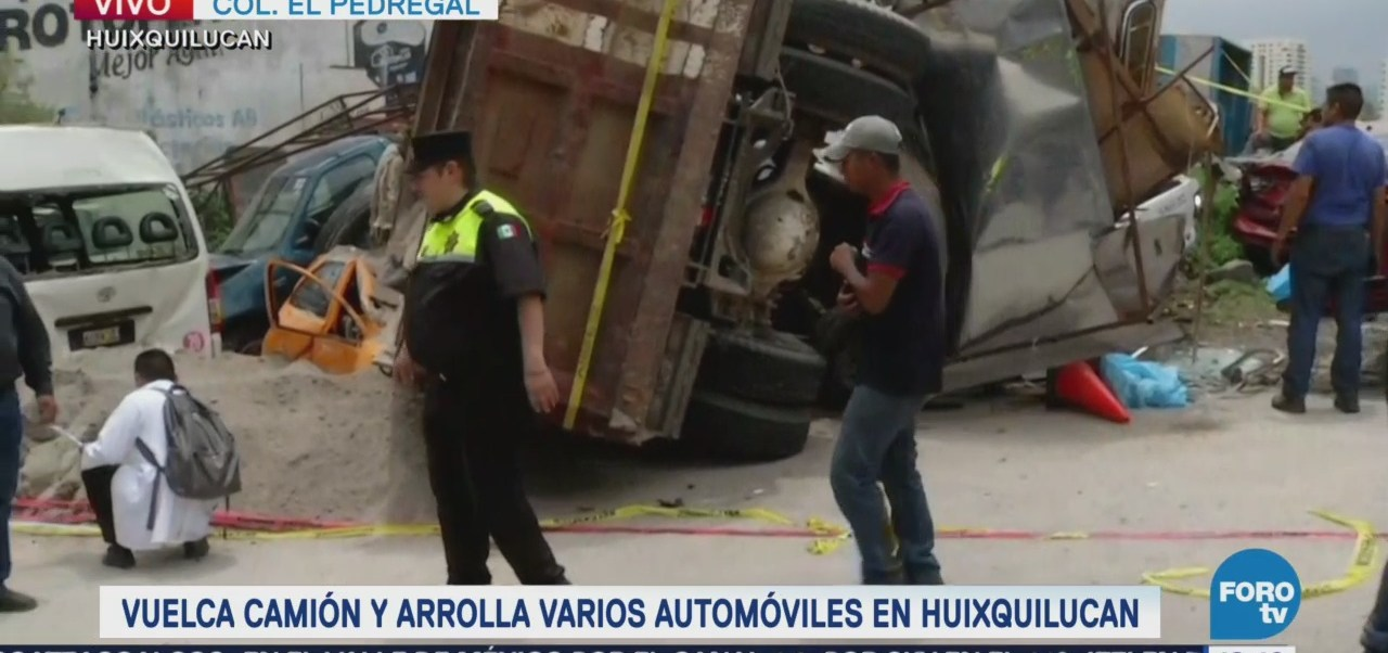 Chofer Camión Materialista Fuga Luego Accidente Huixquilucan