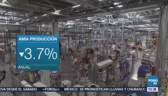 Decrece Producción Automóviles México 3.7% Amia