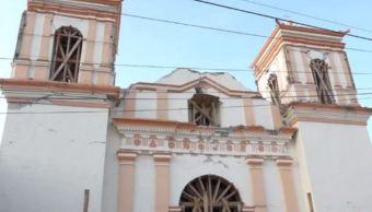 Edificios históricos afectados por sismo en Oaxaca