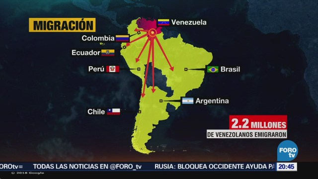 Ola migratoria en Venezuela