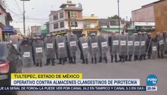 Operativo Contra Almacenes Clandestinos Pirotecnia Tultepec Edomex