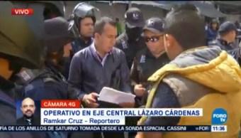 Policías Cdmx Realizan Operativo Eje Central Cdmx