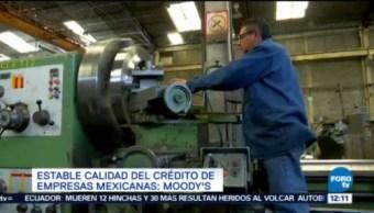 Estable Calidad Crédito Empresas Mexicanas Moody's