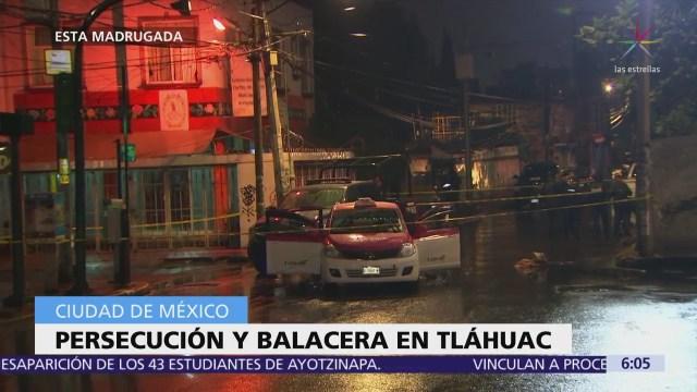 Persecución policíaca y balacera en Tláhuac deja un muerto