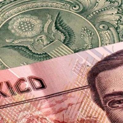 Peso mexicano gana ante repliegue del dólar, que cotiza a 19 pesos
