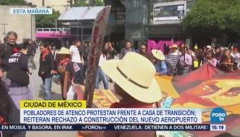 Pobladores Atenco Protestan Casa De Transición Amlo