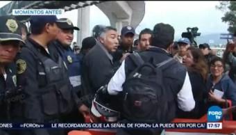 Policías abren carril manifestación México-Cuernavaca
