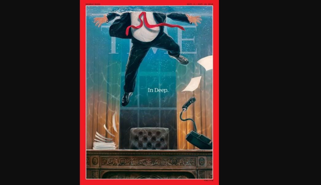 La portada de TIME: Trump con el agua al cuello