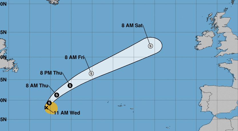 Se forma la tormenta subtropical Ernesto en el Atlántico