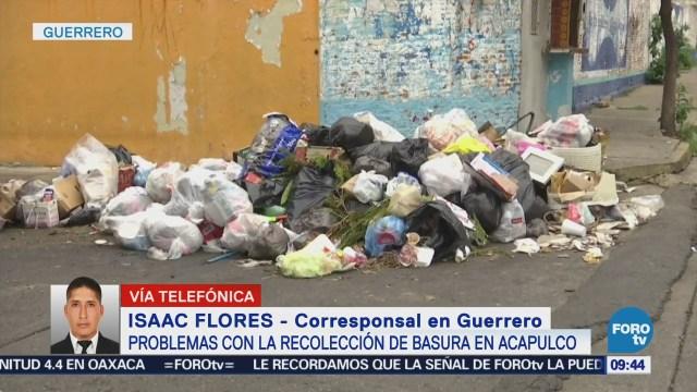 Problemas con la recolección de basura en Acapulco