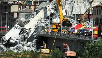 Derrumbe puente en Génova sube cifra víctimas mortales