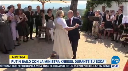 Putin Bailó Ministra Kneissl Durante Boda Austria