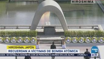 Recuerdan a víctimas de bomba atómica en Hiroshima, Japón