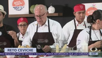 Reto Ceviche enfrenta a ministros de México y Ecuador