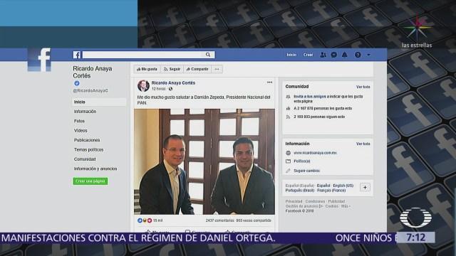 Ricardo Anaya difunde foto de reunión con Damián Zepeda