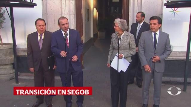 Sánchez Cordero y Navarrete Prida trabajan para transición