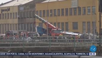 Se derrumba puente autopista de Génova
