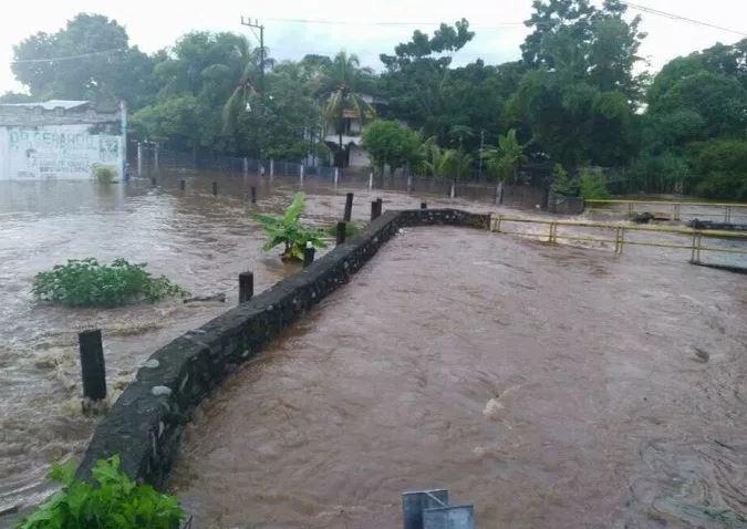 Lluvias provocan desbordamiento del río Chancalá, en Chiapas