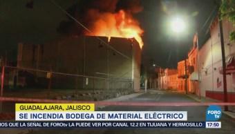 Incendia Bodega Material Eléctrico Guadalajara