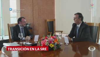 Se reúnen Marcelo Ebrard y Luis Videgaray