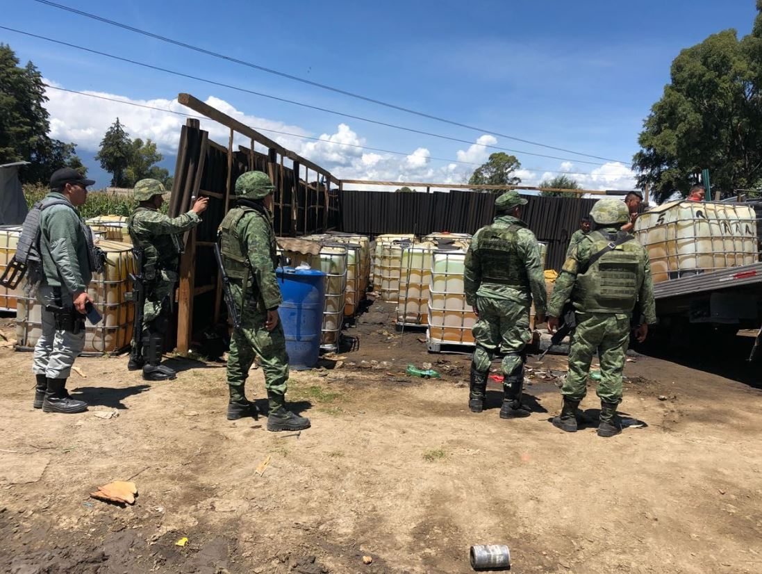 Robo de combustible: Sedena asegura hidrocarburo en Puebla