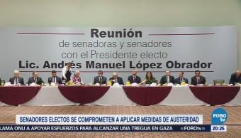 Senadores Electos Coalición 'Juntos Haremos Historia' Comprometen Austeridad