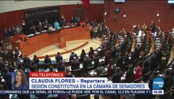 Sesión constitutiva en la cámara de senadores y Diputados
