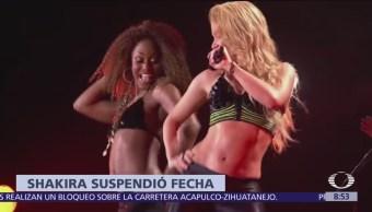 Shakira suspende concierto en Los Ángeles