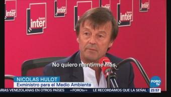 Sin previo aviso, Nicolas Hulot dimite como ministro francés
