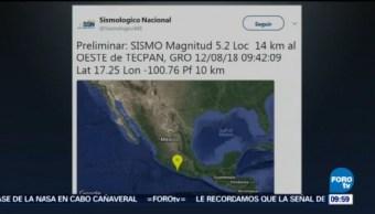 Sismo Guerrero Magnitud Costas Temblor Tiembla