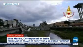 Suman 35 Muertos Derrumbe Tramo Puente Génova
