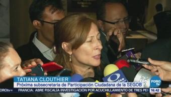 Tatiana Clouthier se reúne con el presidente de Coparmex