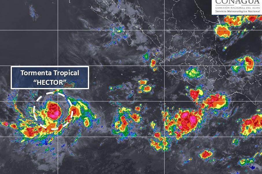 Sigue fortaleciéndose la tormenta tropical Héctor