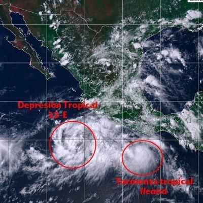 Se forman dos sistemas tropicales en el Océano Pacífico