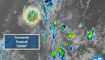 'John' se degrada a tormenta tropical