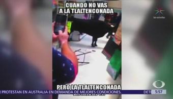 Toro embiste a clientes de nevería en la delegación Tláhuac