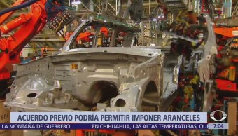 Trump podría imponer aranceles a importaciones de autos hechos en México
