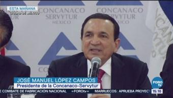 Urgente Necesaria Construcción Del Naim Concanaco Presidente De La Concanaco-Servytur, José Manuel López Campos