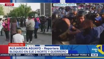 Vecinos protestan por falta de agua en Eje 2 Norte