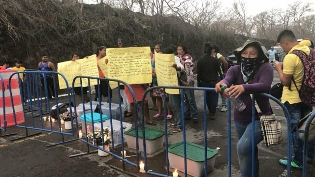 Víctimas Volcán de Fuego no permiten reapertura de carretera