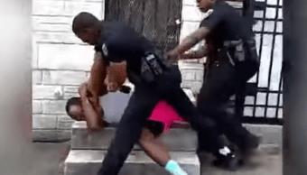 Policía Golpea Brutalmente A Hombre Sin Razón, Brutalidad Policial, Brutalidad, Policia Golpea Hombre, Baltimore, Suspenden Policia Golpeo Hombre