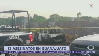 Violencia en Guanajuato deja más de 10 muertos