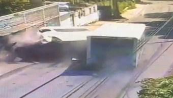 Chofer camión repartidor por accidente en Xochimilco