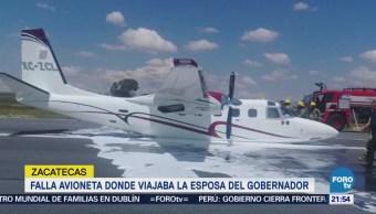 Falla Avioneta Donde Iba Esposa Gobernador Zacatecas