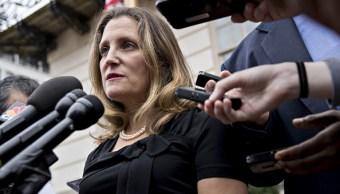 Canciller de Canadá pospone discurso en ONU por negociaciones del TLCAN