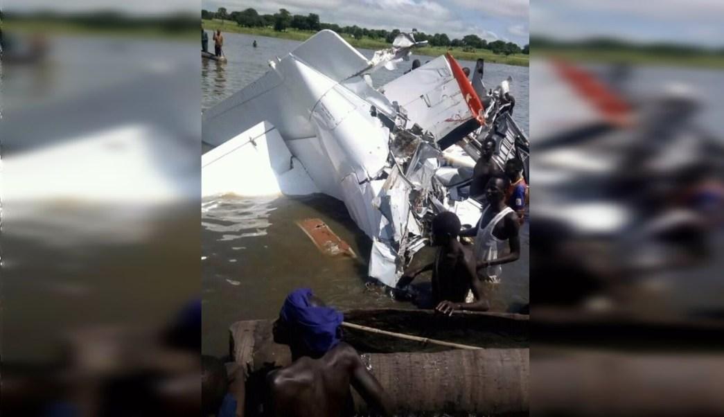 Accidente avión en Sudán del Sur; 19 muertos