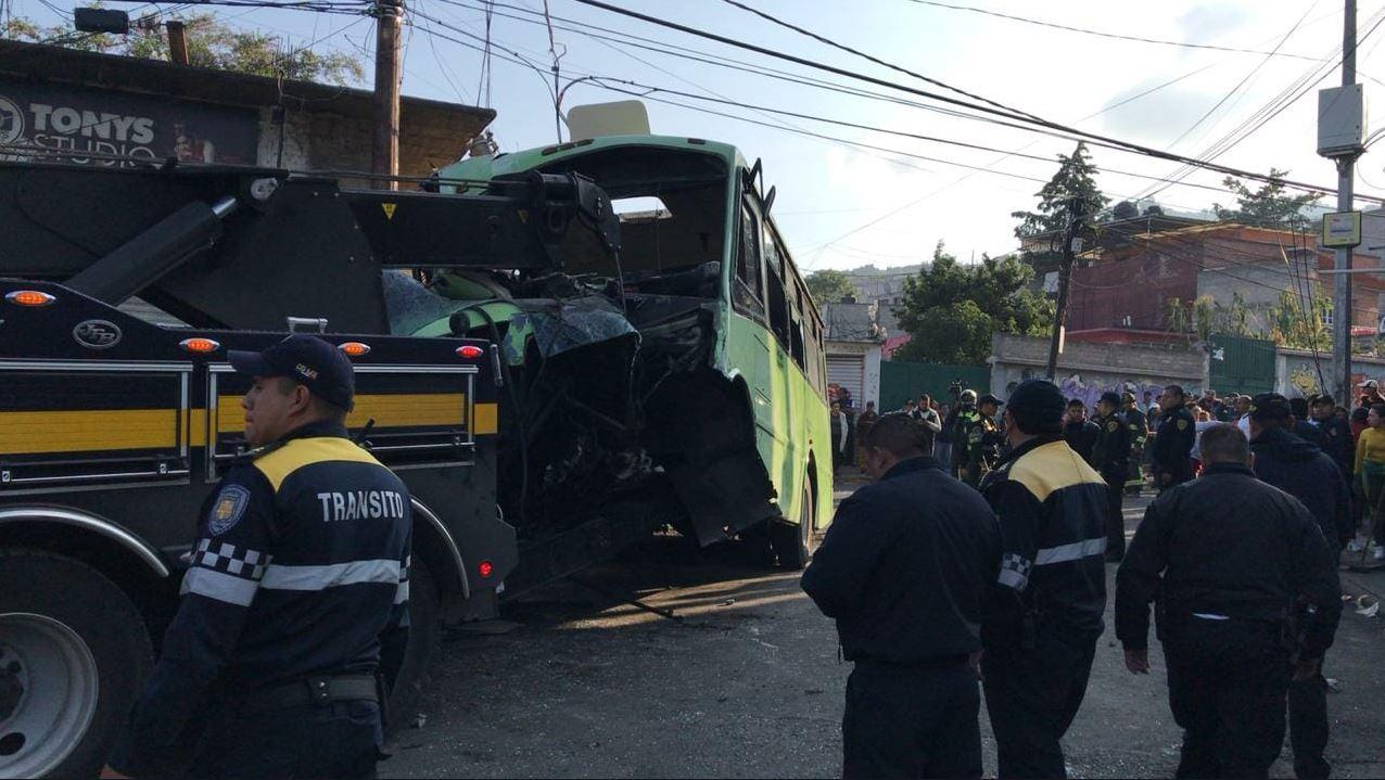Choque en Cuautepec autoridades procederán contra el chófer