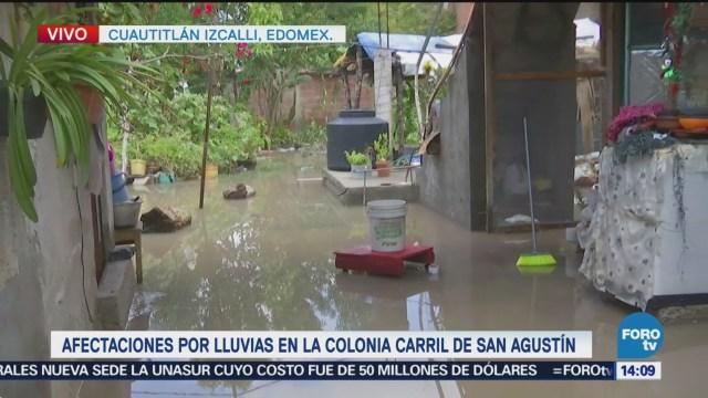 Afectaciones por lluvias y desborde en Cuautitlán Izcalli
