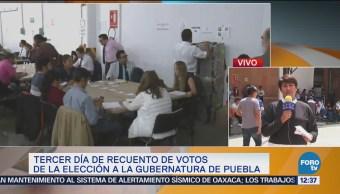 Alcanza casi 50 recuento de votos gubernatura de Puebla